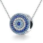 Colier din argint Blue Magic Eye