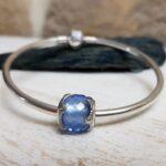 Bratara din argint cu Talisman Blue Seashell