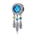 Talisman din argint Blue Dreamcatcher
