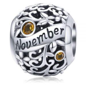 Talismanul din argint Birthday Stone November