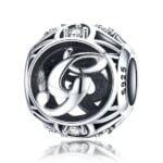 Talisman din argint Litera G