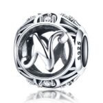 Talisman din argint Litera N