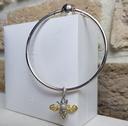 Bratara de argint cu talisman Little Bee