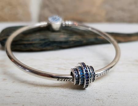 Bratara de argint cu talisman Blue Style