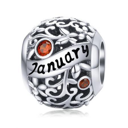 Talismanul din argint Birthday Stone January