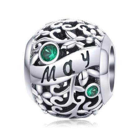 Talisman din argint Birthday Stone May