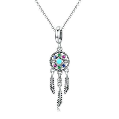 Colier din argint Blue Dreamcatcher