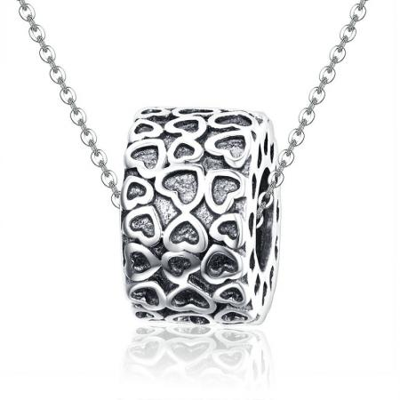 Colier din argint Vintage Hearts