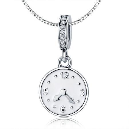 Colier din argint Vintage Clock