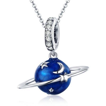 Colier din argint Blue Planet