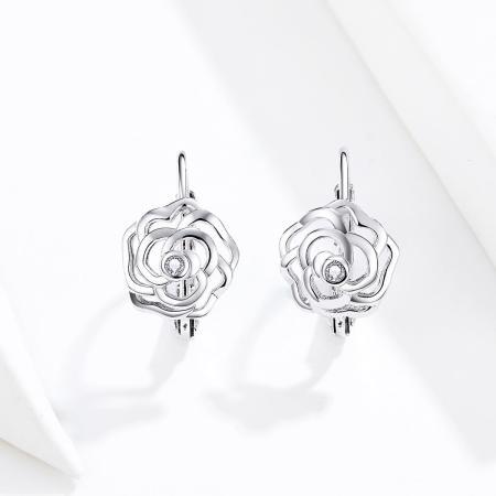Cercei din argint Silver Rose